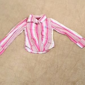 Size 2 Guess pink stripe top